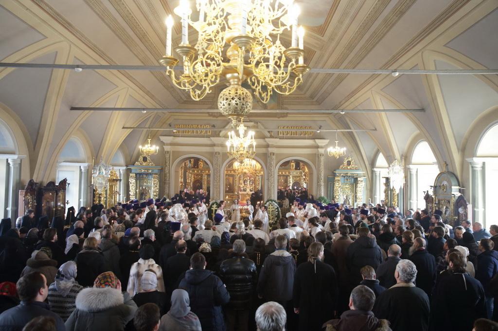 Отпевание и погребение архиепископа Можайского Григория