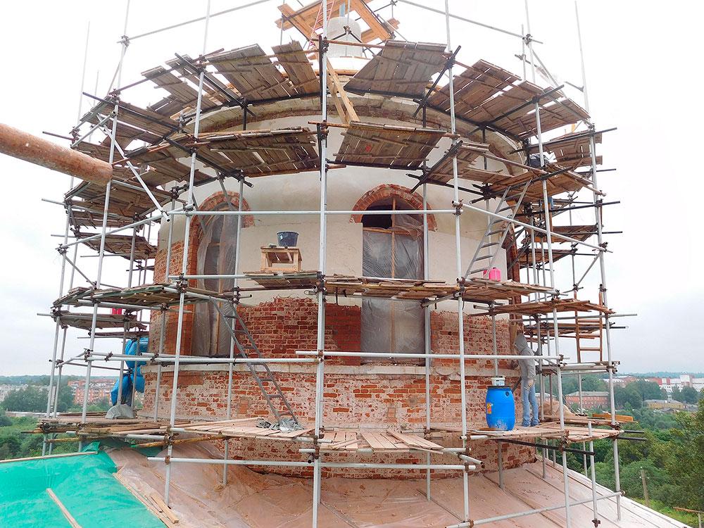 Восстановление Знаменского храма села Ивановское Волоколамского района